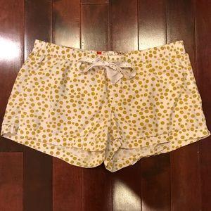 J.Crew Polka Dot Drawstring Lounge Pajama Shorts